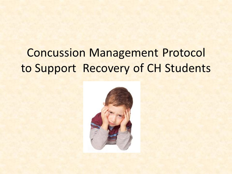 Concussion Management Protocol to Support Recovery of CH Students