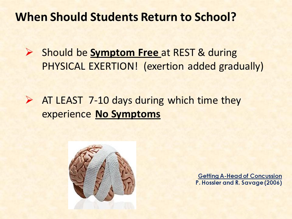 Should be Symptom Free at REST & during PHYSICAL EXERTION.