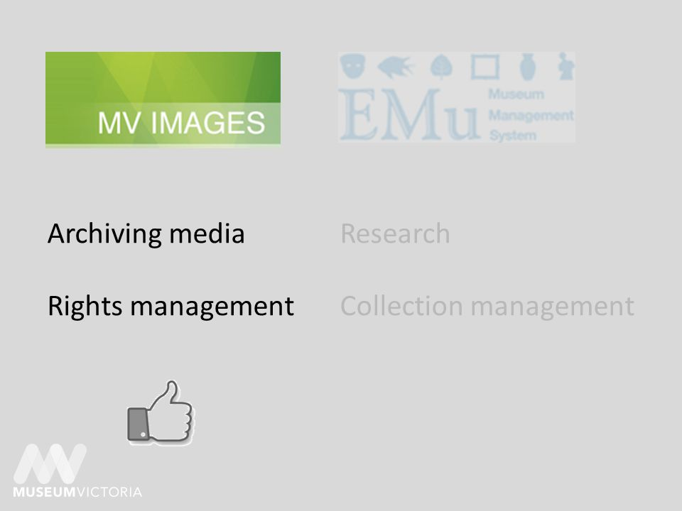 Archiving media Rights management Research Collection management