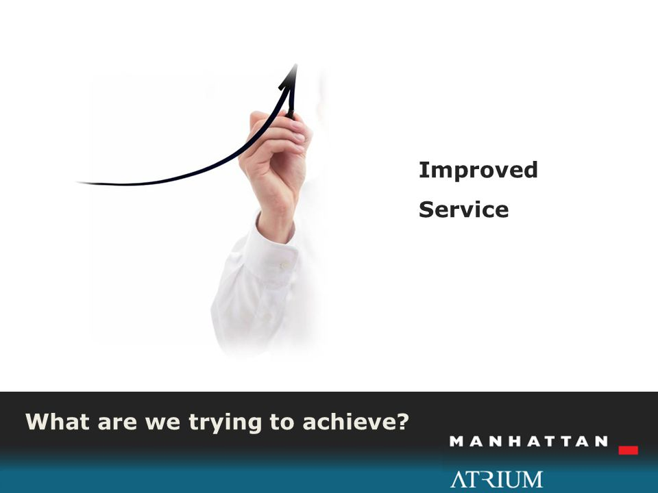 What are we trying to achieve Improved Service