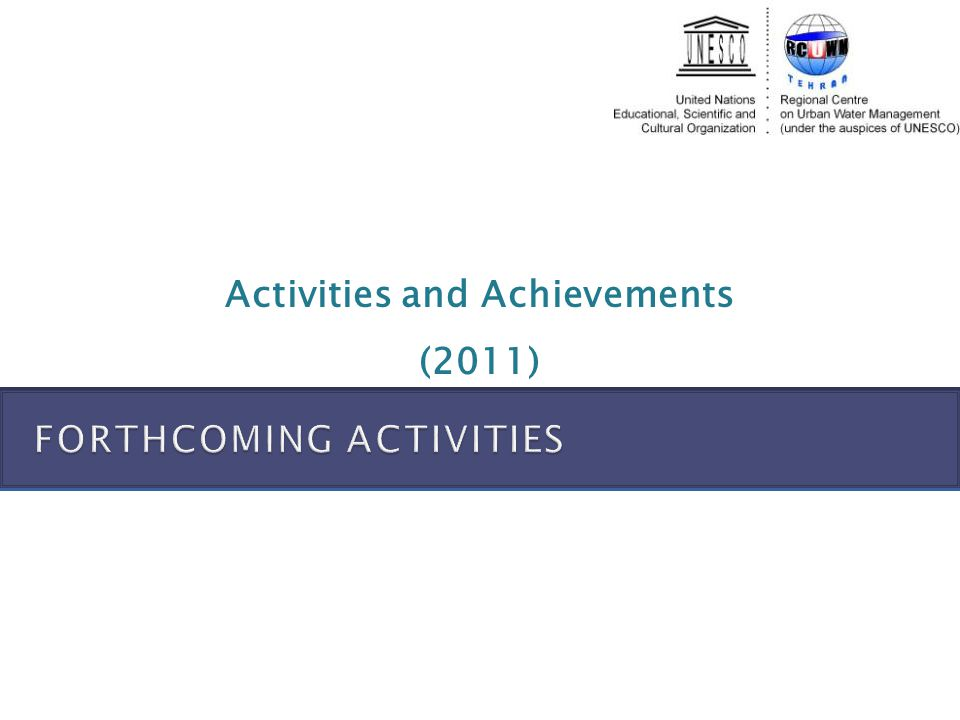 Activities and Achievements (2011)