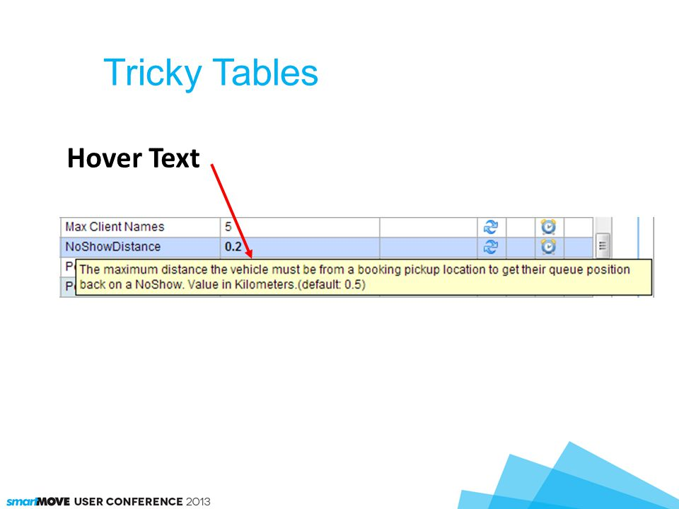 Tricky Tables Hover Text