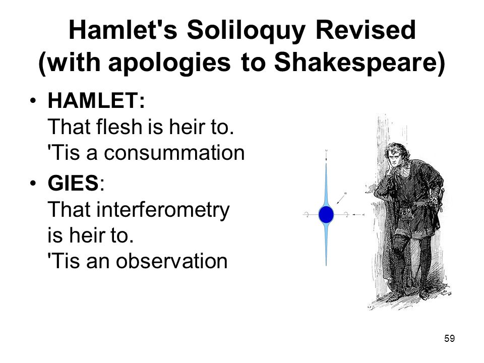 59 Hamlet s Soliloquy Revised (with apologies to Shakespeare) HAMLET: That flesh is heir to.