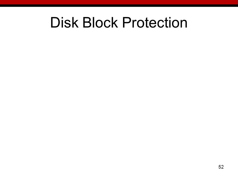 52 Disk Block Protection