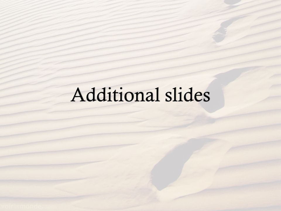 Additional slidesAdditional slides