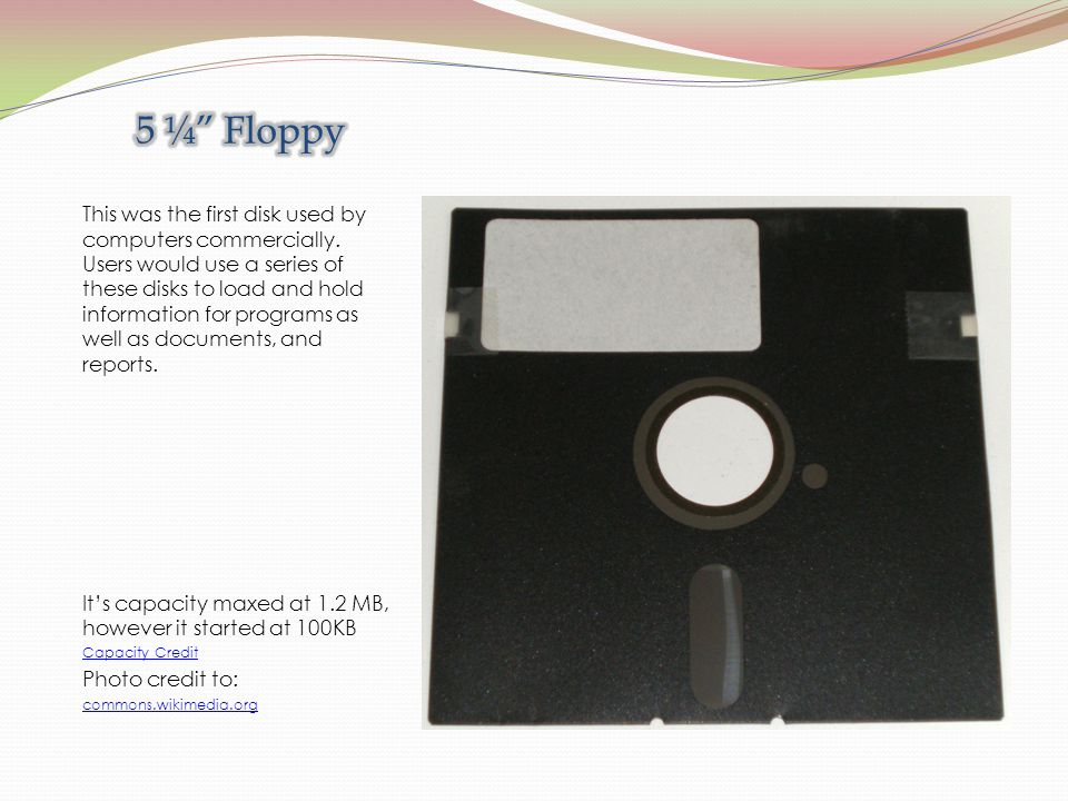 This was the first disk used by computers commercially.