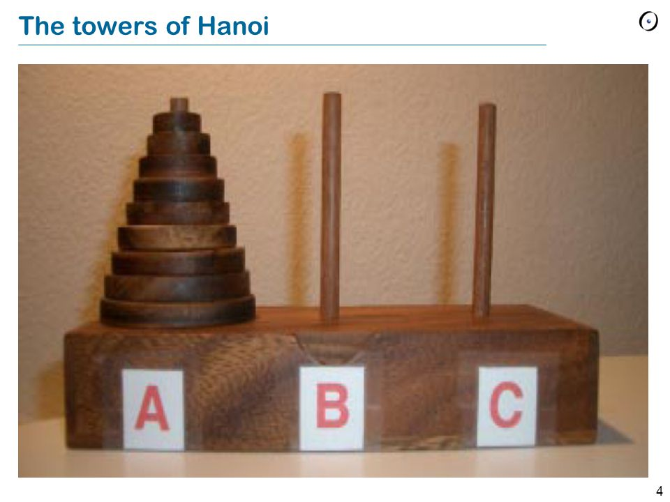 4 The towers of Hanoi