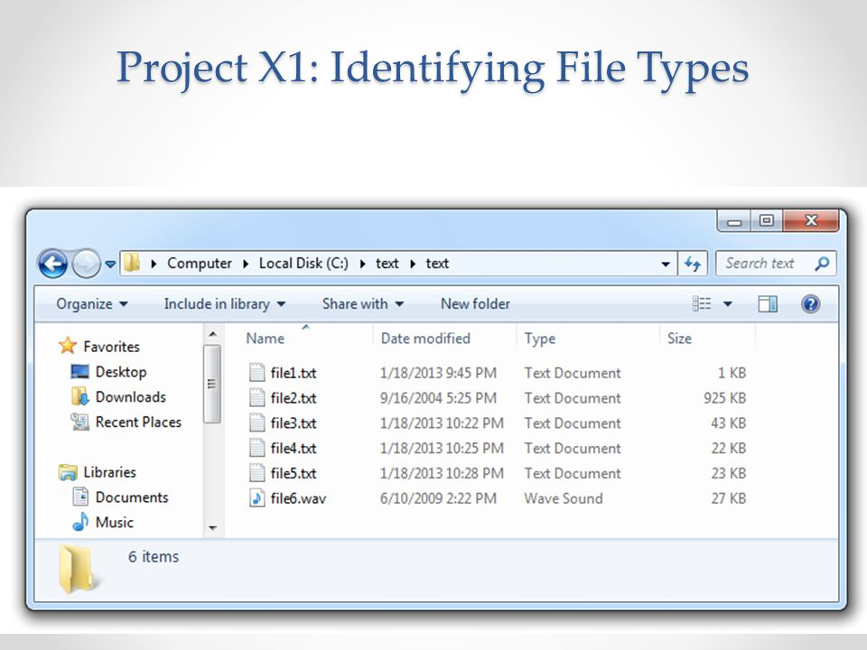 Project X1: Identifying File Types