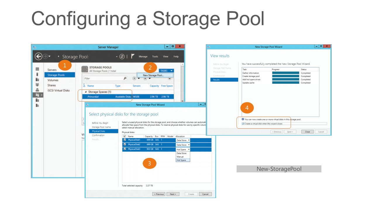 Configuring a Storage Pool