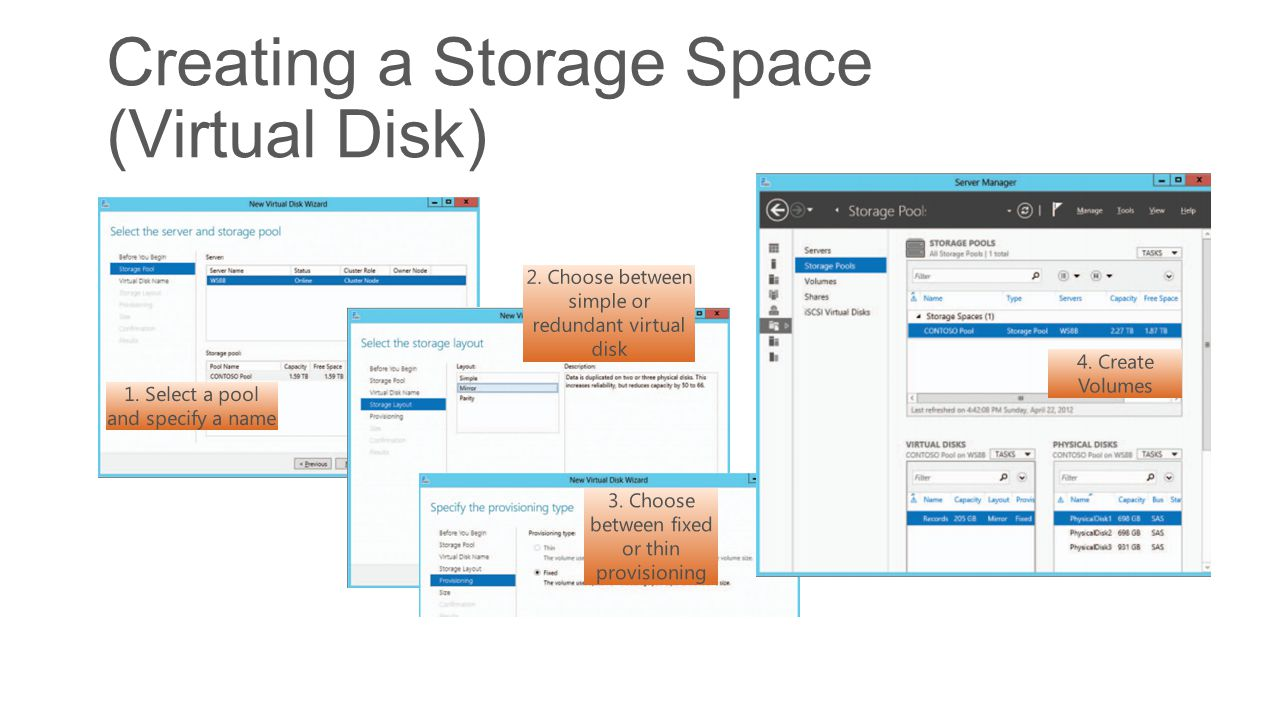 Creating a Storage Space (Virtual Disk)