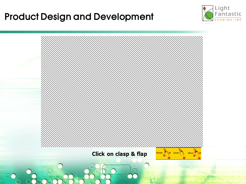 Product Design and Development Click on clasp & flap