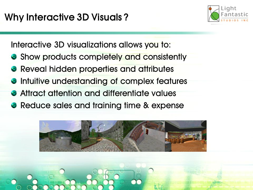 Why Interactive 3D Visuals .