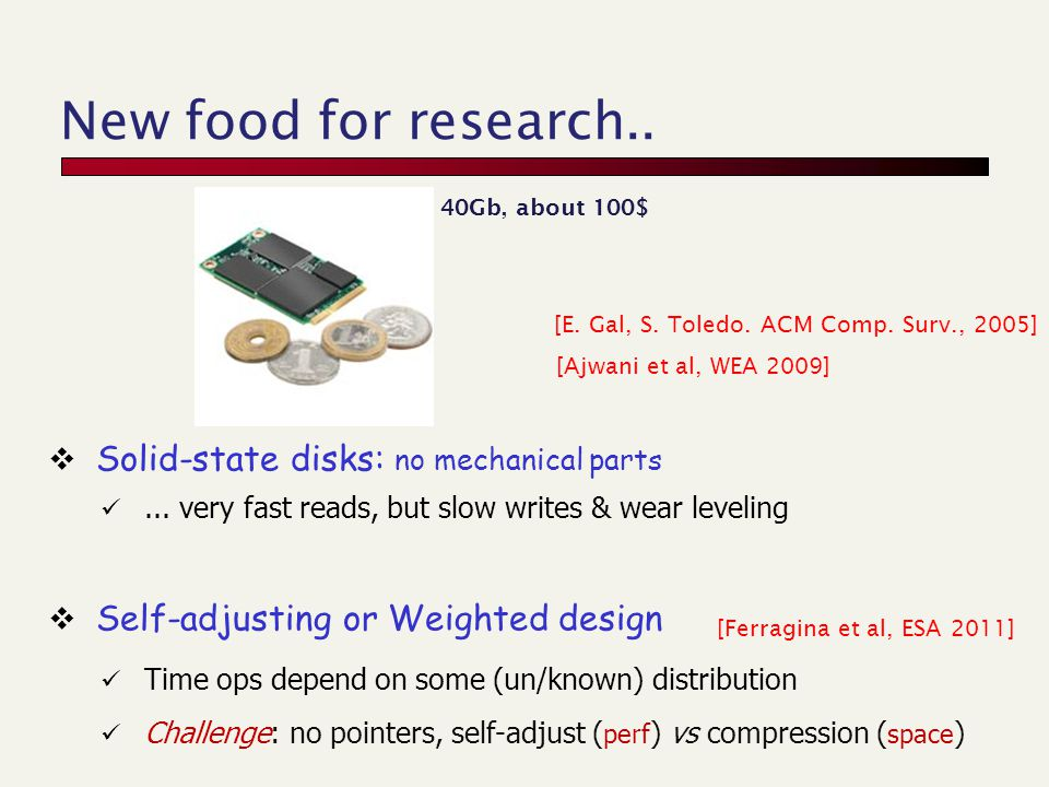 New food for research.. [E. Gal, S. Toledo. ACM Comp.