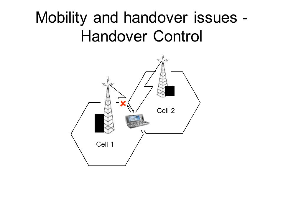 Mobility and handover issues - Handover Control Cell 1 Cell 2