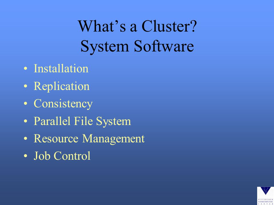 Whats a Cluster.
