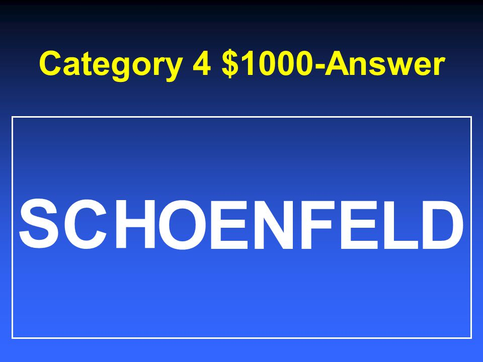 Category 4 $800-Answer 1.Picture of his wife 2.Dog bone 3.Pittsburgh Penguins towel 4.Military dog tags