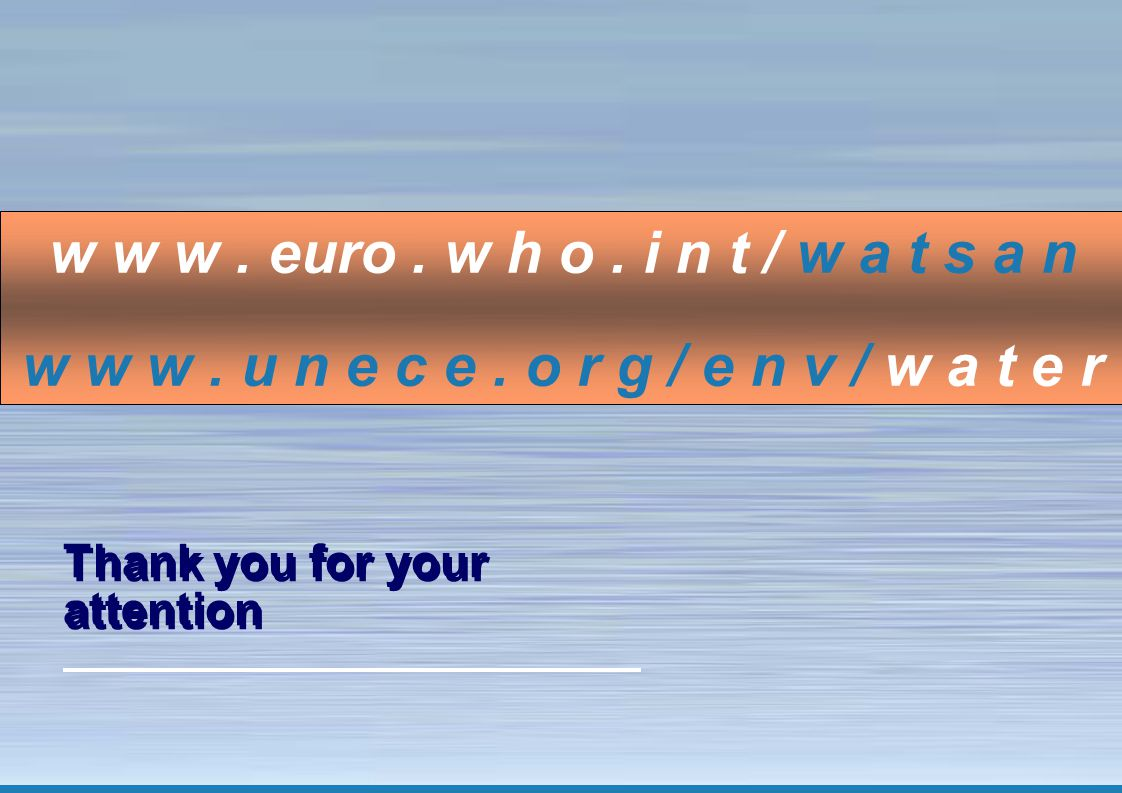 15 The Protocol on Water and Health: making a difference Thank you for your attention w w w.