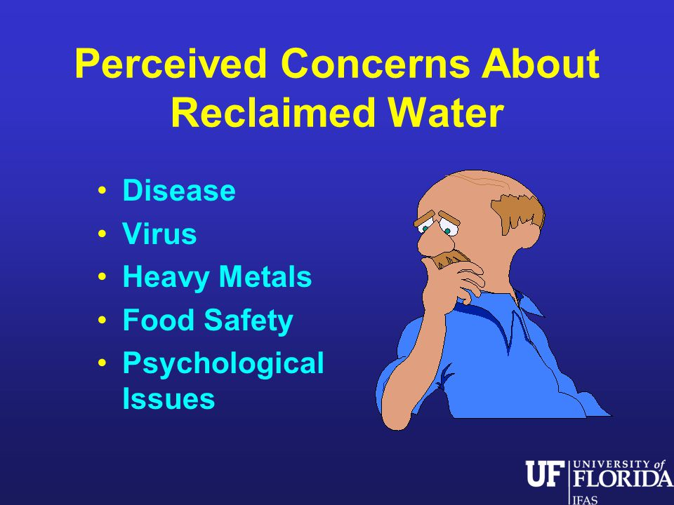 Perceived Concerns About Reclaimed Water Disease Virus Heavy Metals Food Safety Psychological Issues