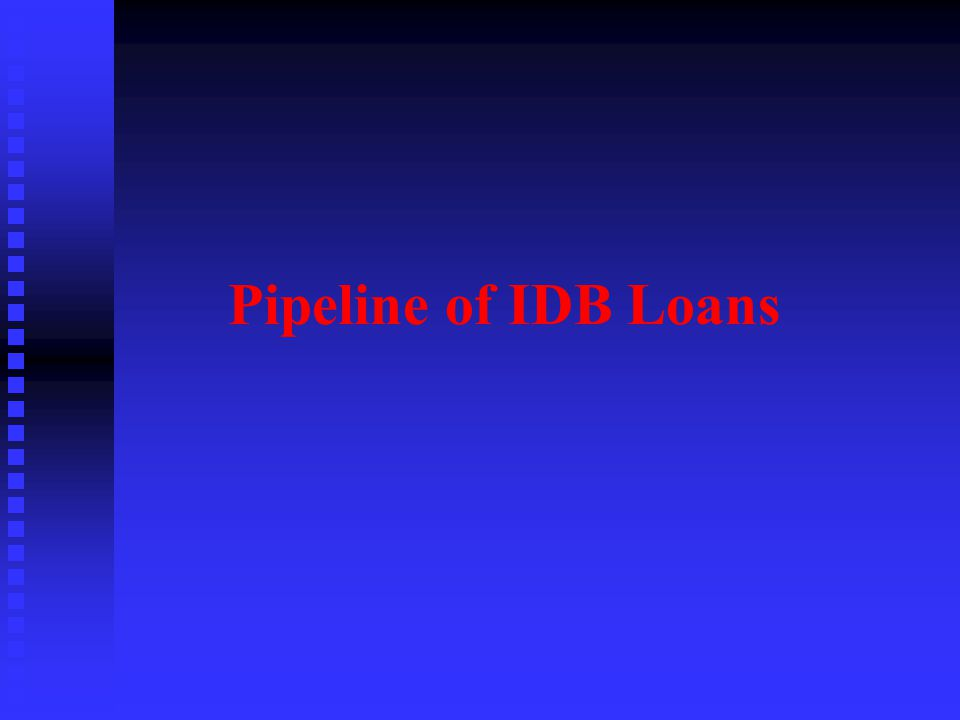 Pipeline of IDB Loans