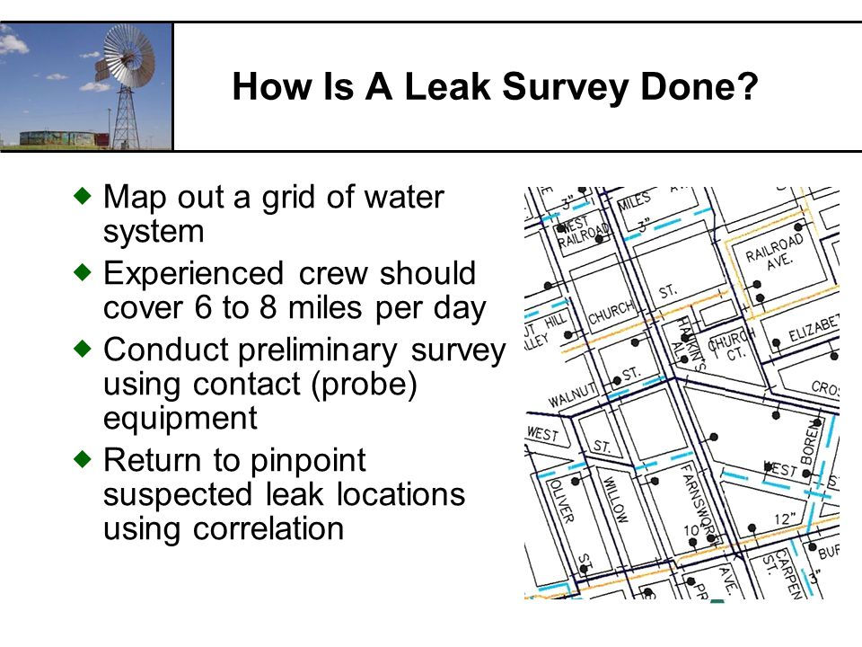 RCAC How Is A Leak Survey Done.