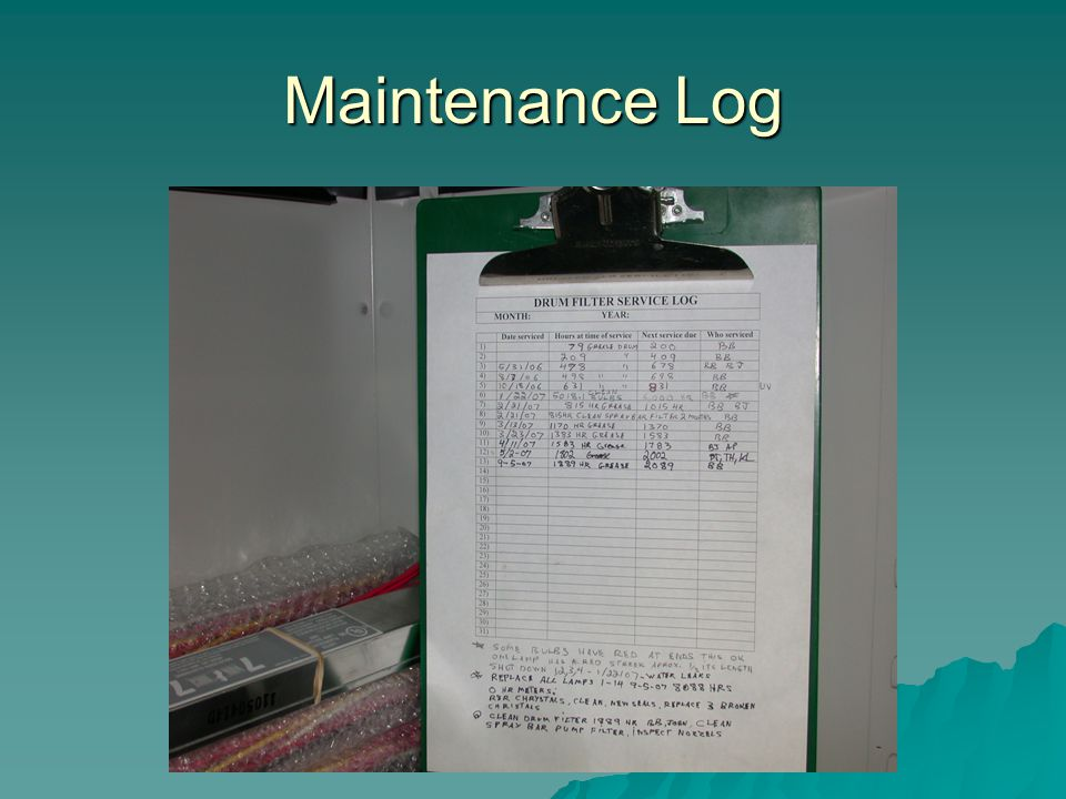 Maintenance Log
