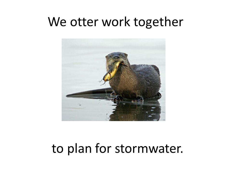 We otter work together to plan for stormwater.