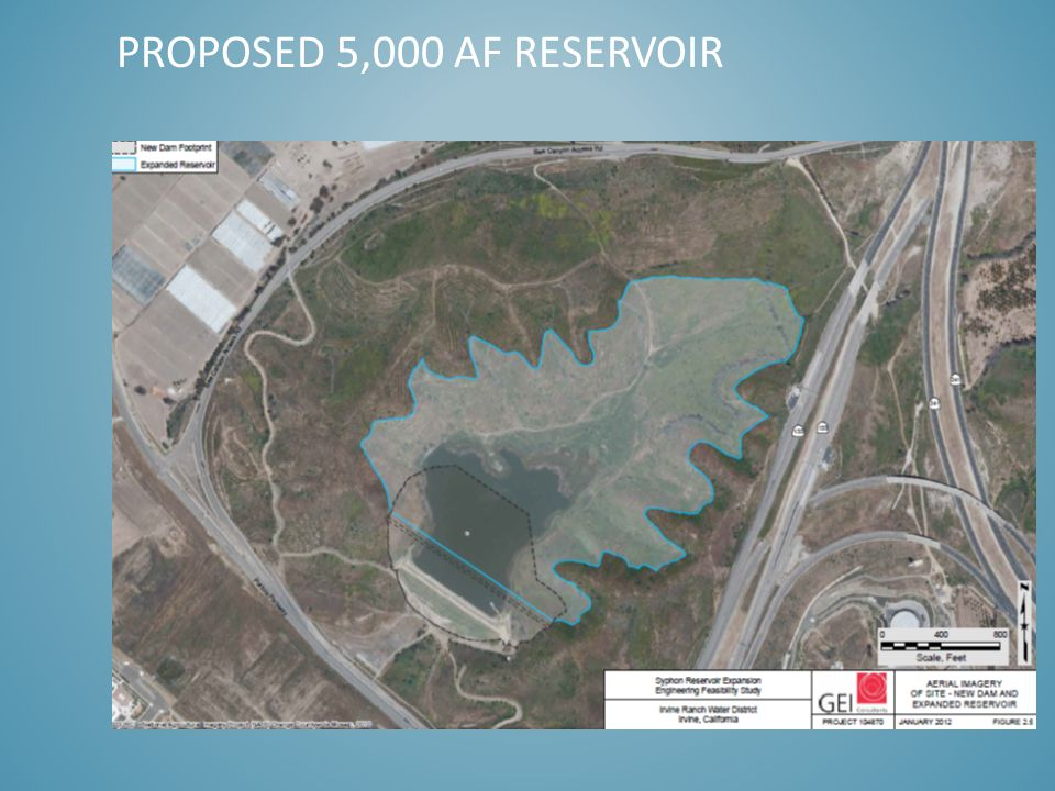 PROPOSED 5,000 AF RESERVOIR