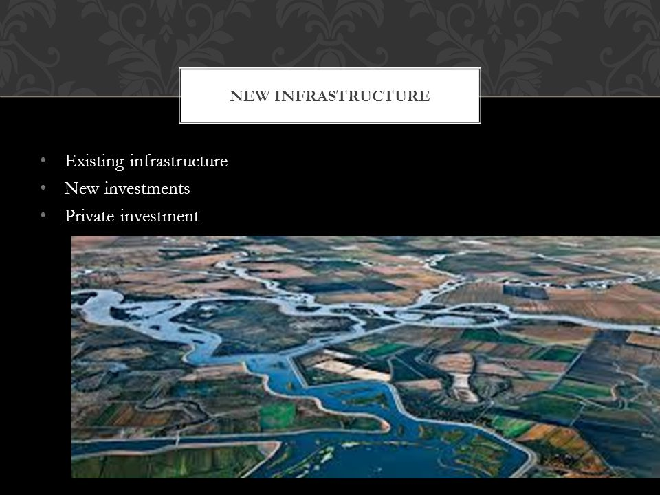 Existing infrastructure New investments Private investment NEW INFRASTRUCTURE