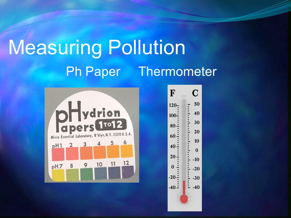 Measuring Pollution Ph PaperThermometer