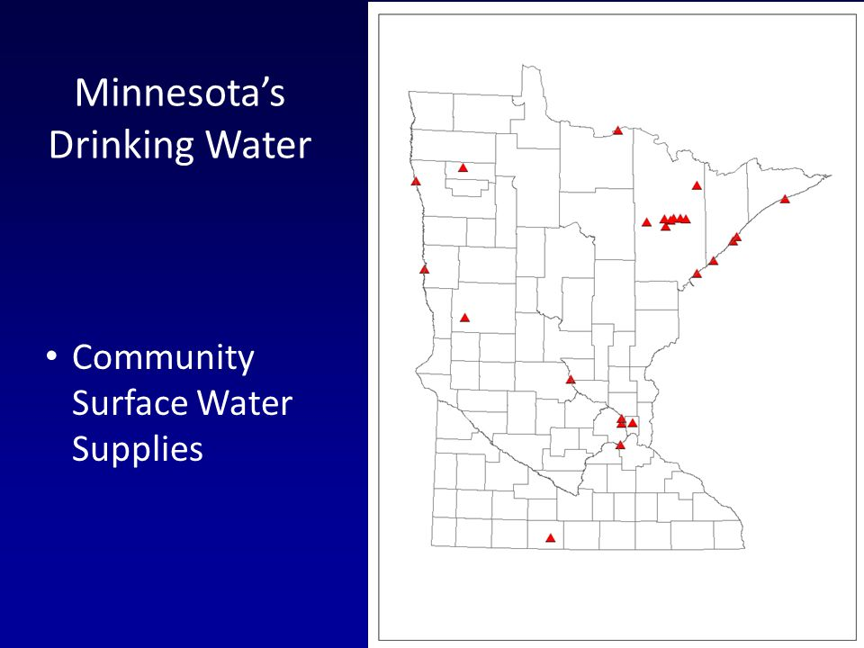 Minnesotas Drinking Water Community Surface Water Supplies