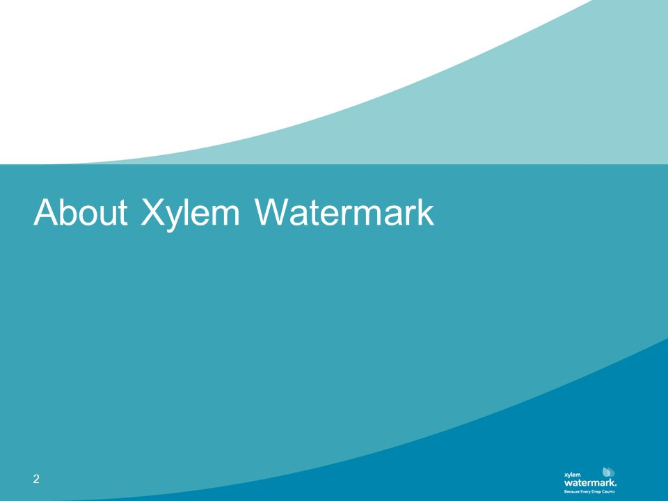 About Xylem Watermark 2