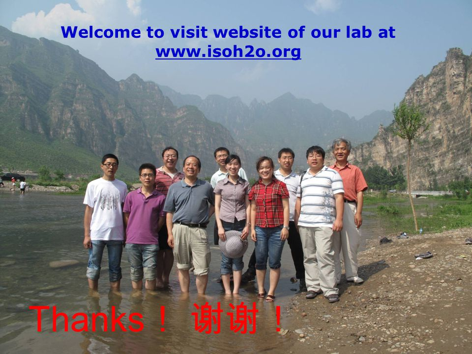Welcome to visit website of our lab at www.isoh2o.org Thanks
