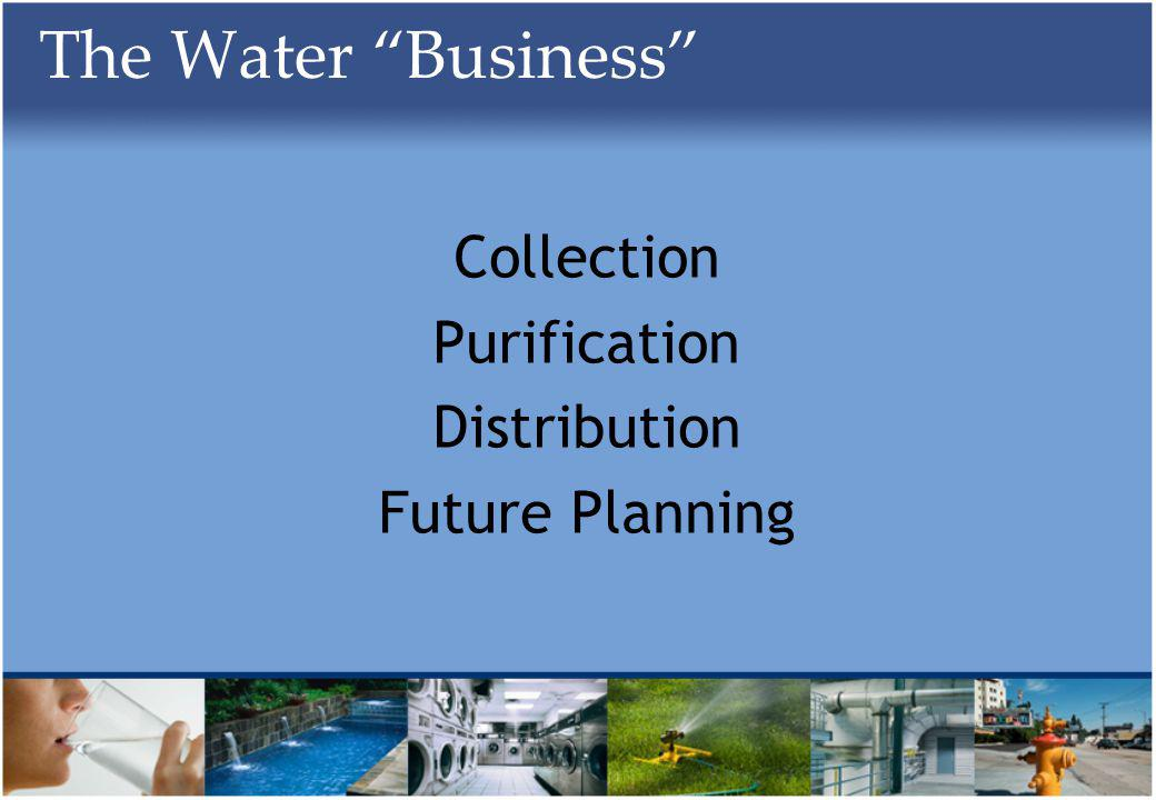 The Water Business Collection Purification Distribution Future Planning