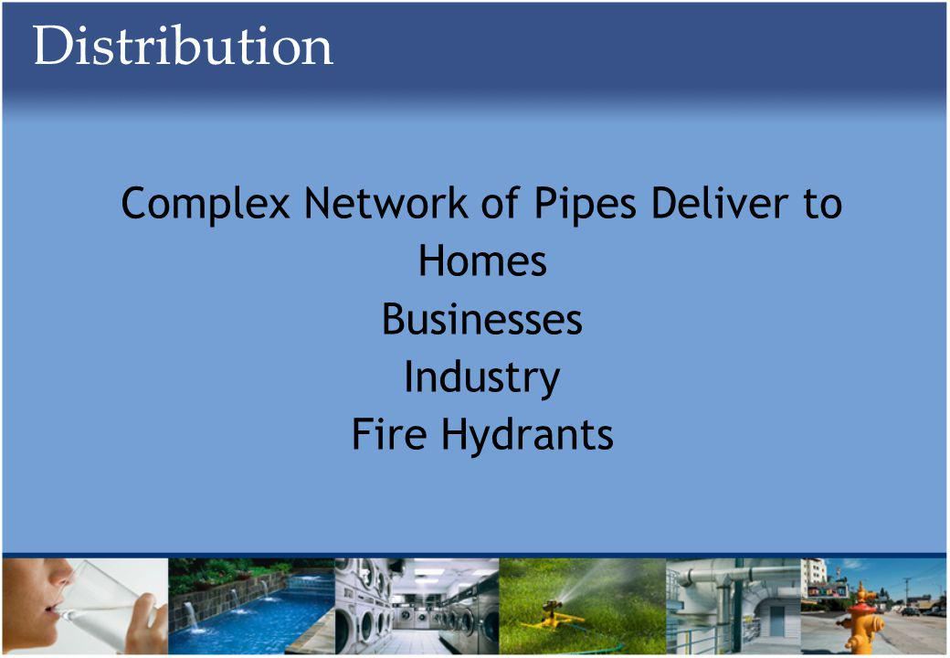 Distribution Complex Network of Pipes Deliver to Homes Businesses Industry Fire Hydrants