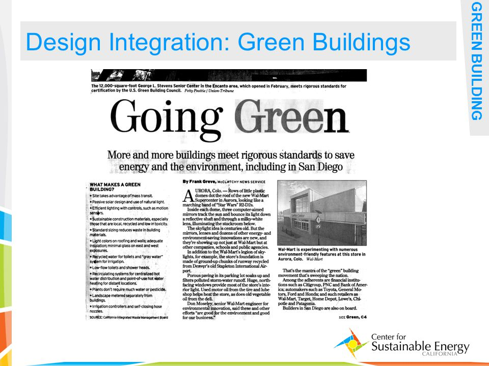 29 Design Integration: Green Buildings GREEN BUILDING