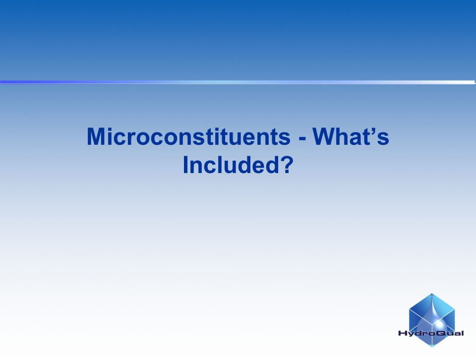 Microconstituents - Whats Included