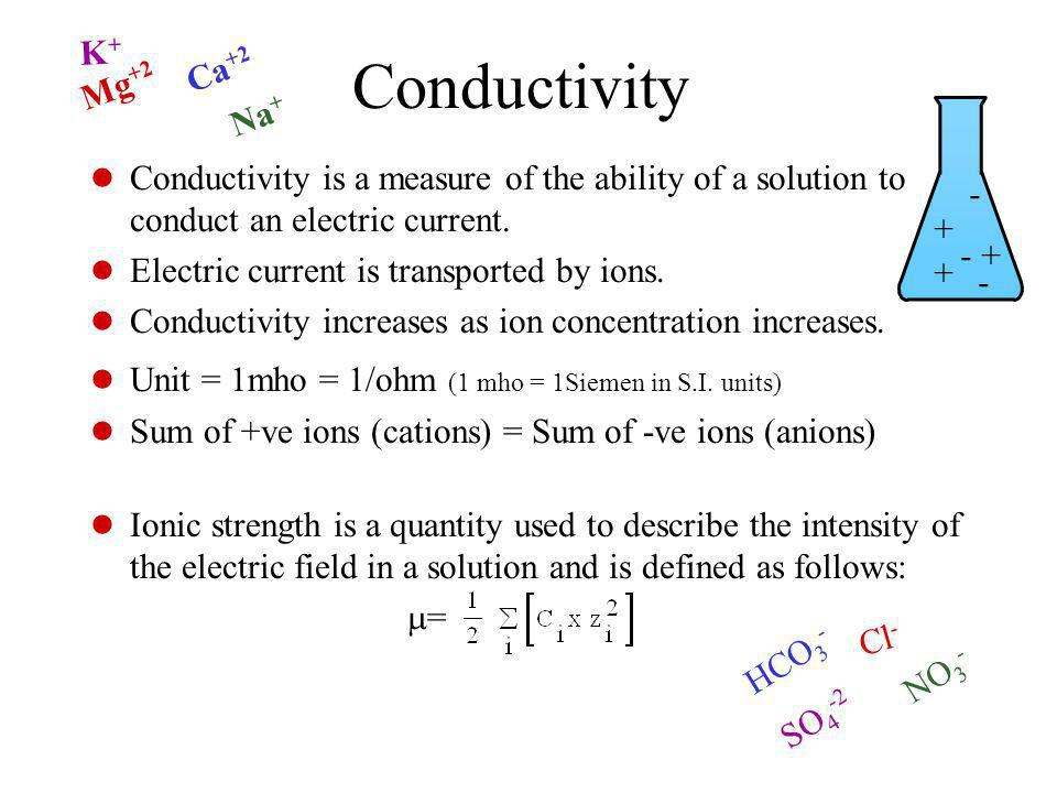 Conductivity Conductivity is a measure of the ability of a solution to conduct an electric current.