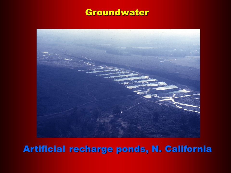 Groundwater Artificial recharge ponds, N. California
