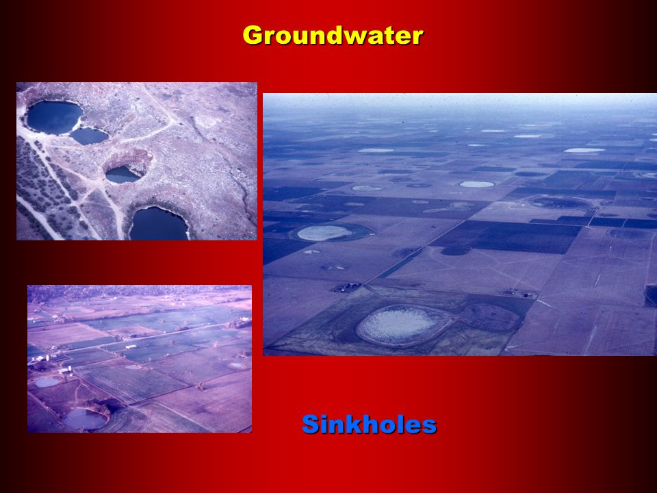 Groundwater Sinkholes