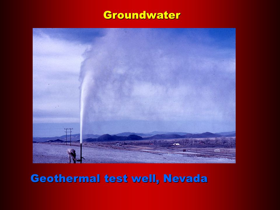 Groundwater Geothermal test well, Nevada