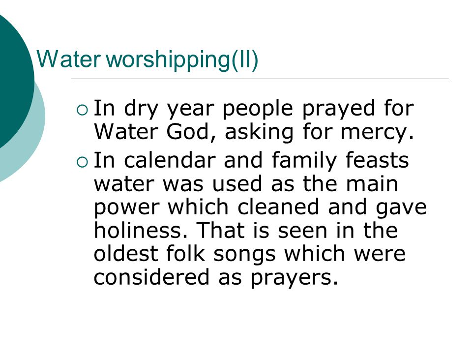Water worshipping(II) In dry year people prayed for Water God, asking for mercy.