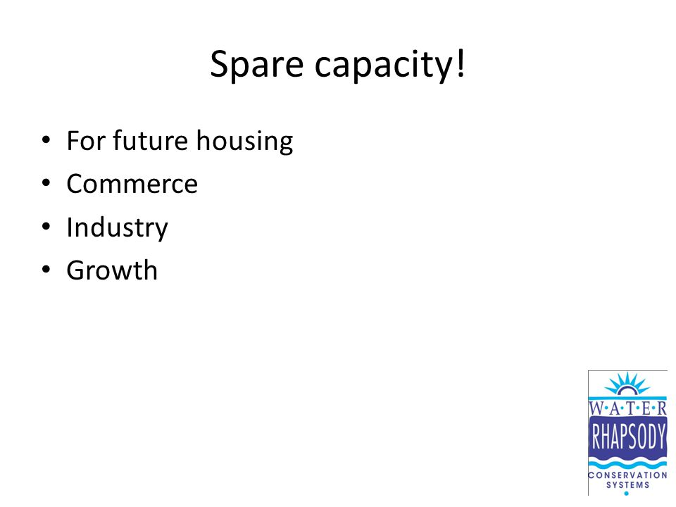 Spare capacity! For future housing Commerce Industry Growth