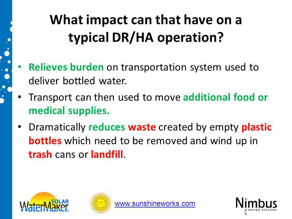 What impact can that have on a typical DR/HA operation.