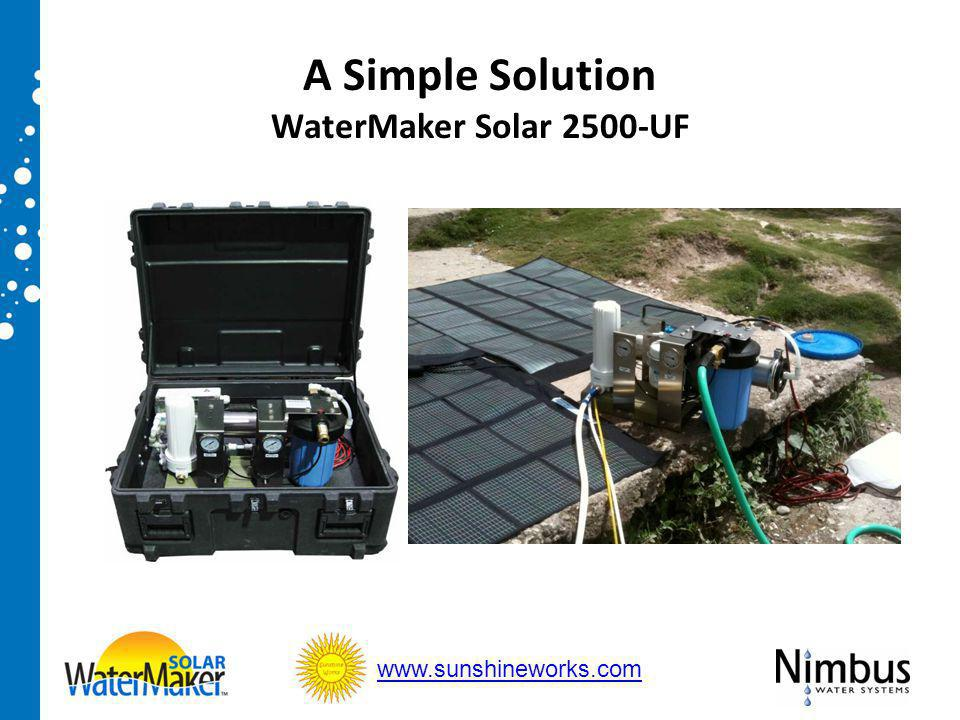 A Simple Solution WaterMaker Solar 2500-UF