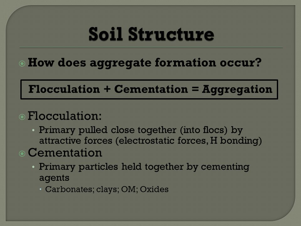 How does aggregate formation occur.