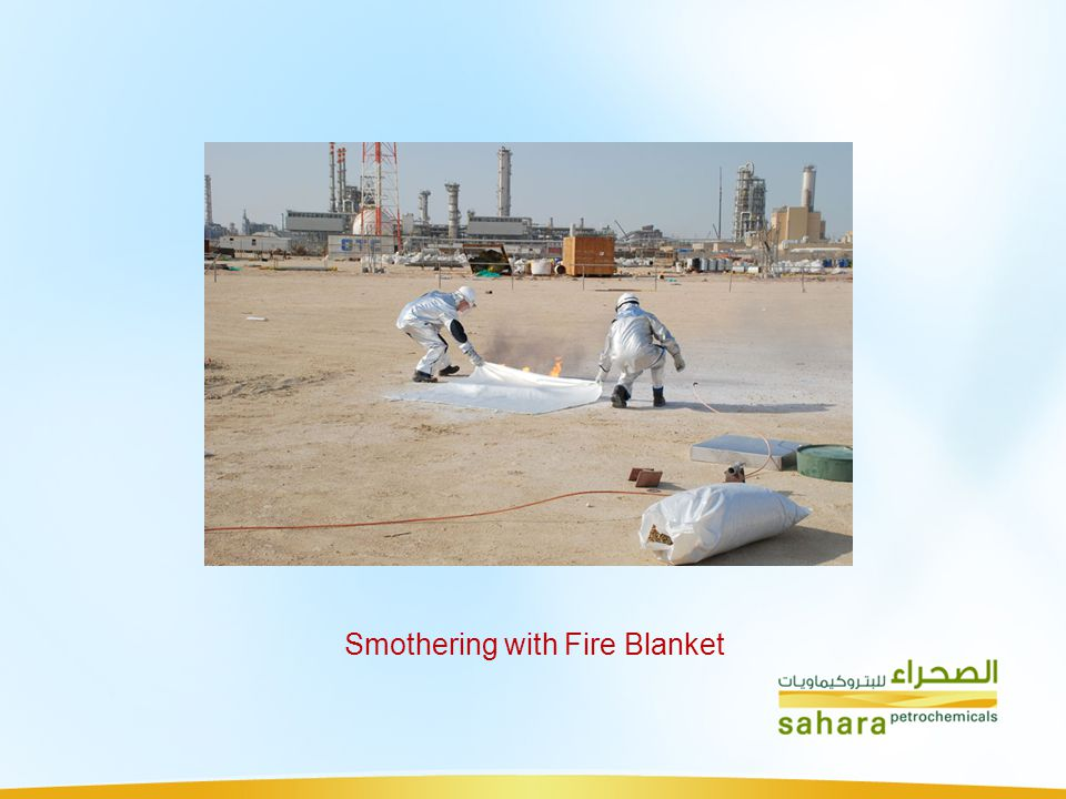 Smothering with Fire Blanket
