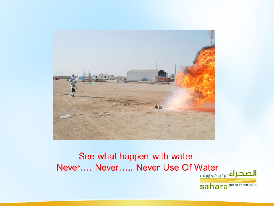 See what happen with water Never…. Never….. Never Use Of Water