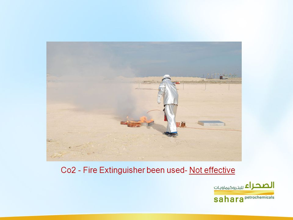 Co2 - Fire Extinguisher been used- Not effective