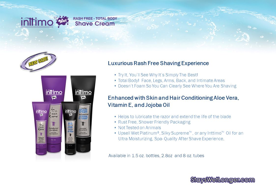 Luxurious Rash Free Shaving Experience Try It, Youll See Why Its Simply The Best.