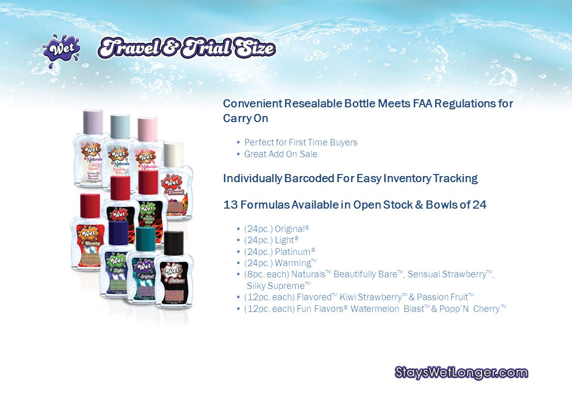 Convenient Resealable Bottle Meets FAA Regulations for Carry On Perfect for First Time Buyers Great Add On Sale Individually Barcoded For Easy Inventory Tracking 13 Formulas Available in Open Stock & Bowls of 24 (24pc.) Original ® (24pc.) Light ® (24pc.) Platinum ® (24pc.) Warming TM (8pc.